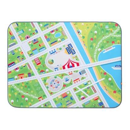 Игровой плюшевый ковер 3в1 Wolli matlig, маленький город, 120х160 см