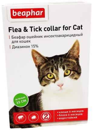 Ошейник для кошек против блох, власоедов, вшей, клещей Beaphar Flea & Tick зеленый, 35 см