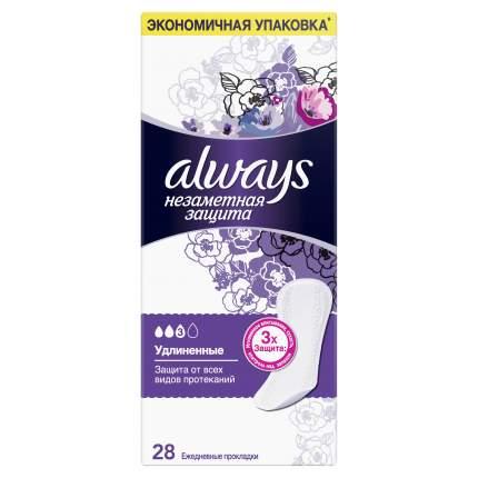 Женские ежедневные прокладки ALWAYS Незаметная защита Удлиненные, 28 шт