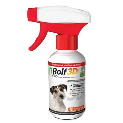 Спрей для собак против блох, власоедов, клещей, комаров RolfClub 3D, 200 мл