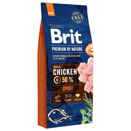 Сухой корм для собак Brit Premium By Nature Sport, для активных, курица, 15кг