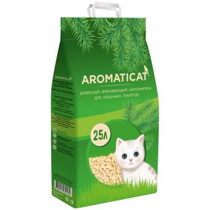 Впитывающий наполнитель для кошек Aromaticat древесный, 15 кг, 25 л