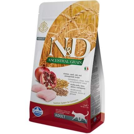 Сухой корм для кошек Farmina N&D, низкозерновой, курица и гранат, 1,5кг