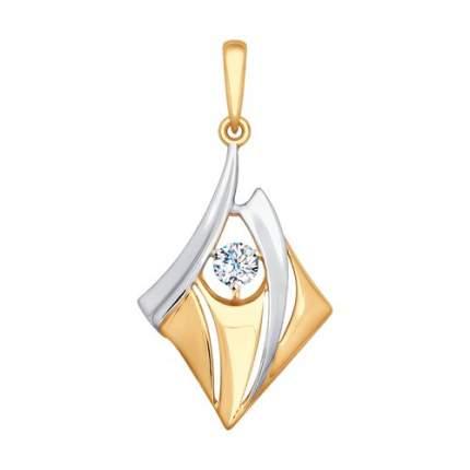 Подвеска SOKOLOV из золота с фианитом 035496