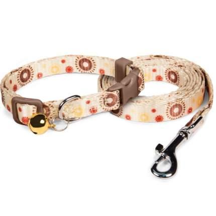 Комплект для животных ошейник+поводок Triol Солнышко светло-желтый 20-30смх10мм 1,2мх10мм