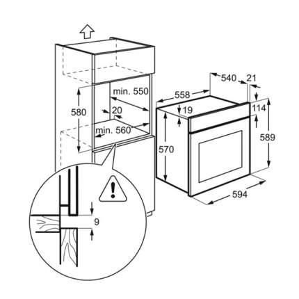 Встраиваемый электрический духовой шкаф Electrolux OEF5C50Z