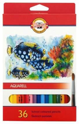 """Набор карандашей акварельных """"Fish"""", 36 цветов"""