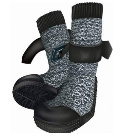 Защитные носки для лап Trixie Walker, M–L, 2 штуки, черный, серый, 2 штуки