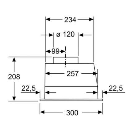 Вытяжка Bosch DLN 53 AA 50