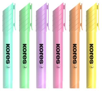 Текстовыделители Kores High Liner Plus, 1-5 мм, 6 цветов