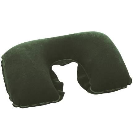 Bestway, 67006 BW, Надувная подушка под шею Flocked Travel Pillow 46х28 см, цвет Зеленый
