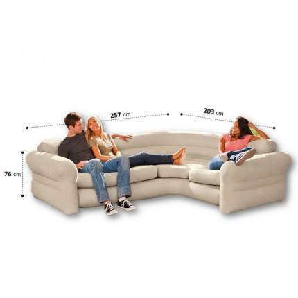 Intex, 68575, Надувной угловой диван Corner Sofa, 257х203х76см