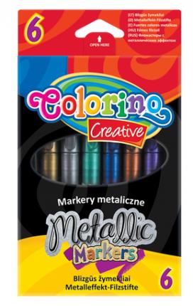 """Маркеры """"Colorino"""", 6 цветов, металлик"""