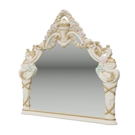 Зеркало Мэри-Мебель Людовик СЛ-06 слоновая кость кракелюр, ручная роспись, 142х8х130,5 см