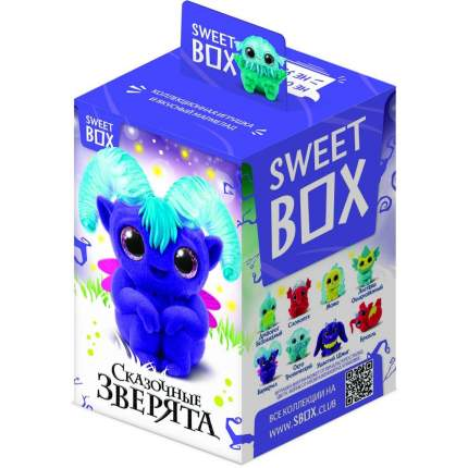 Мармелад Свитбокс сказочные зверята с игрушкой в коробочке 10 г