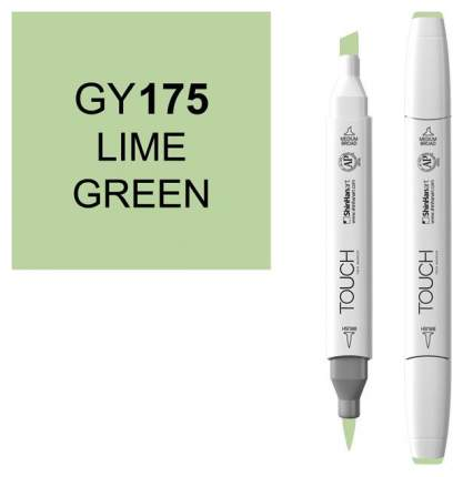 Маркер Touch Brush двухсторонний на спиртовой основе Зеленый лайм GY175