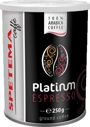 Кофе Spetema Platinum молотый металлическая банка 250 г