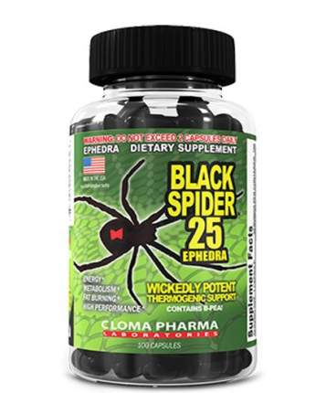 Жиросжигатель Cloma Pharma Black Spider 100 капсул