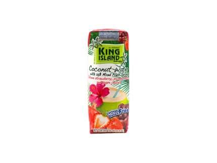 Вода кокосовая King Island с фруктовым соком клубника-гранат-виноград 250 мл