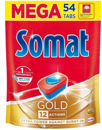 Таблетки для посудомоечной машины Somat Gold 54 шт