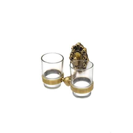 Держатель со стаканами MILACIO настенный, двойной MC.923.BR, бронза ( коллекция Valls )