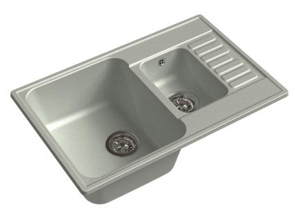 Мойка для кухни мраморная GranFest ECO Z-21K серый