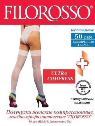 Чулки Filorosso 50 den, 1 кл Госпитальные Ultra Compress с силиконовой резинкой, р.6 белые