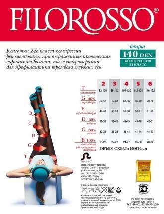 Колготки Filorosso лечебно-профилактические Terapia 140 den, 2 класс черный р.3