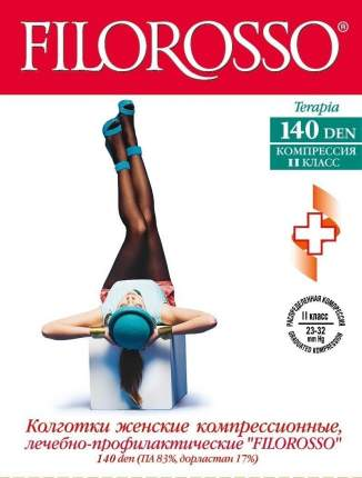 Колготки Filorosso лечебно-профилактические Terapia 140 den, 2 класс черный р.2