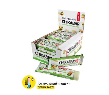 Батончик глазированный CHIKALAB 60 грамм (коробка 20 шт.) Фисташковый крем