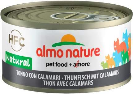 Консервы для кошек Almo Nature HFC Legend, с тунцом и кальмарами, 24шт по 70г