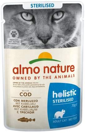 Влажный корм для кошек Almo Nature Holistic Sterilised, треска, 30шт по 70г