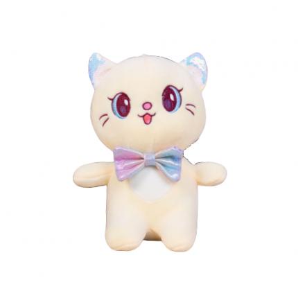 Мягкая игрушка To-ma-to Кошка желтая, 22 см
