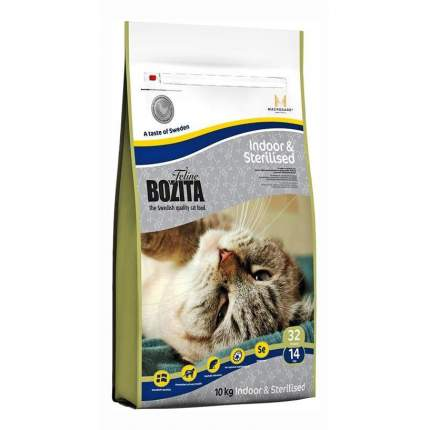 Сухой корм для кошек BOZITA Function Indoor & Steralised, курица, 10кг