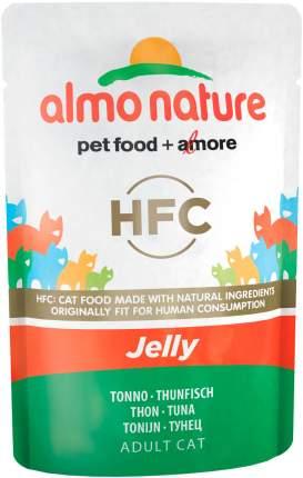 Влажный корм для кошек Almo Nature Classic Jelly, с тунцом в желе, 24шт по 55г