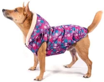 Жилет зимний для собак Gamma Морозко, с меховым капюшоном, размер 2XL