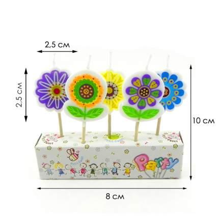 Набор свечей для торта Diligence party Цветы, 5 шт.