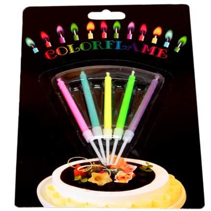 Набор свечей для торта Diligence party Цветное украшение, 5 шт.