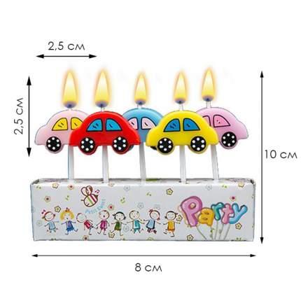 Набор свечей для торта Diligence party Автомобиль, 5 шт.
