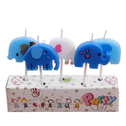 Набор свечей для торта Diligence party Слоники, 5 шт.