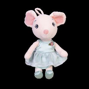Мягкая игрушка To-ma-to Мышка в зеленом платье, 37 см