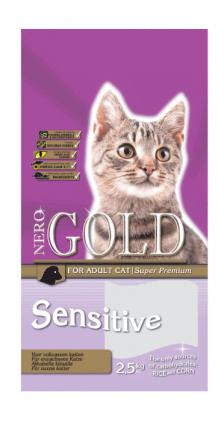 Сухой корм для кошек NERO GOLD Super Premium, ягненок, 2,5кг