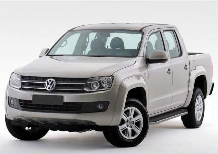 "Пороги алюминиевые ""Premium"" Rival Volkswagen Amarok 2010-2016, 193 см, A193ALP.5803.1"