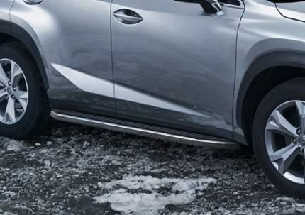 """Пороги на автомобиль """"Premium"""" RIVAL для Lexus NX 2014-2017, 173 см, 2 шт., A173ALP.3202.1"""