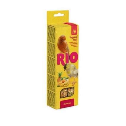 Лакомство для птиц RIO Палочки для канареек с тропическими фруктами, 2 х 45 гр., 0,080 кг