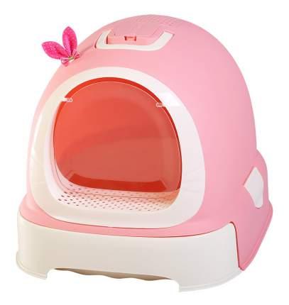 Туалет-бокс Makar Фэнтези, выдвижной поддон (розовый), 55х42х43 см