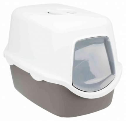 Туалет для кошек Trixie Diego, 40x40x56 см, темно-серый, белый