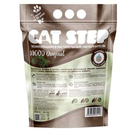 Комкующийся наполнитель Cat Step Wood древесный, 2.3 кг, 5 л