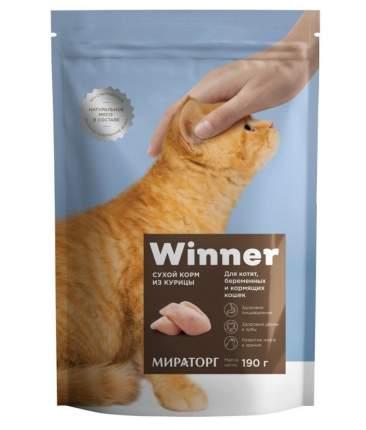 Сухой корм для котят, беременных и кормящих кошек Winner, с курицей, 190 г