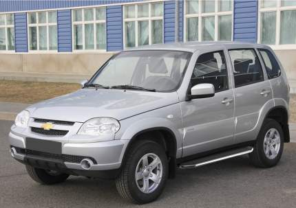"Пороги на авто ""Premium"" RIVAL для Chevrolet Niva 2002-2020, 160 см, 2 шт., A160ALP.1001.2"